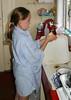 Isabel washing up