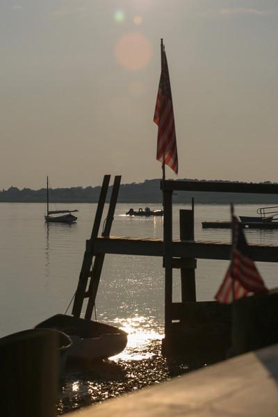 Docks in the evening sun