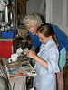 Isabel and Grandma Dorothy painting