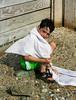 Benjamin in a towel