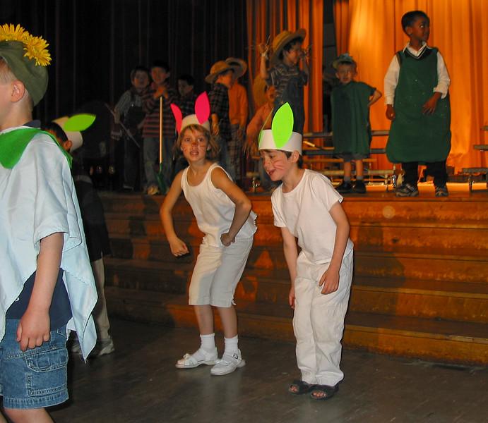 Benjamin as a rabbit in a school play