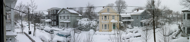 Ellsworth Ave. panorama in the snow