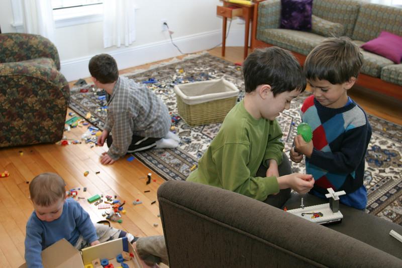 Boys playing: Joey, Sam, Benjamin, and Benny