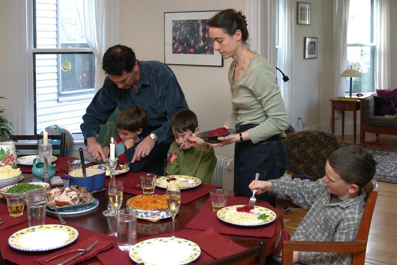 Chip and Chantal, serving Benny, Benjamin, and Sam