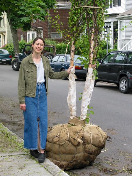 Chantal holding river birch