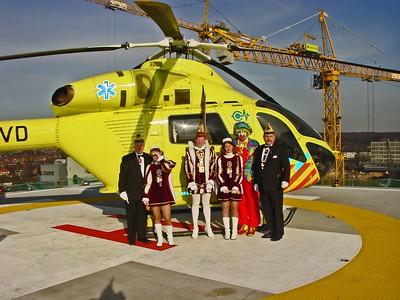 Bedrijvenbezoek Radboudumc Helicopter platform
