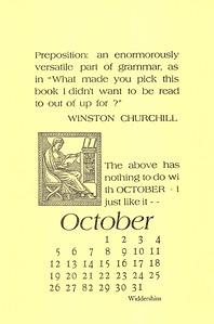 October, 2003, Widdershins