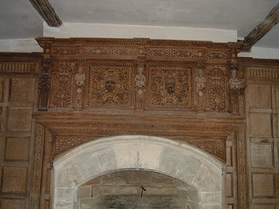 The Solar - Caratyds above fireplace