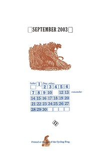 September, 2003, Cycling Frog