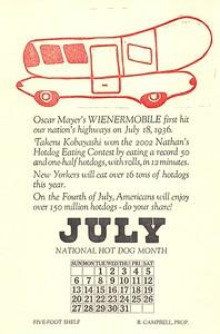July, 2003, Five-Foot Shelf Press