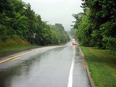 Highway flooded