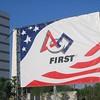 FIRST Banner on field between Georgia Dome & World Congress Center