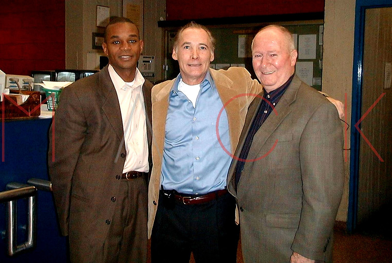 NEW YORK - NOVEMBER 4: 28th Pct. CO, Deputy Inspector Dwayne Montgomery, Ret. P.O. Richard Heyward, Ret. Lt. John Quinn at Rao's in New York, NY. (Photo by Steve Mack)