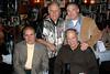 "NEW YORK - NOVEMBER 4: Nick the Bartender, 28th Pct. Ret. P.O. Richard Heyward, Hon. Judge Edwin Torres, Ret. Det. Salvatore ""Sonny"" Grosso at Rao's in New York, NY. (Photo by Steve Mack)"