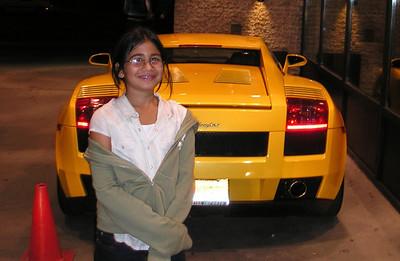 Nadeska modeling the Lamborghini