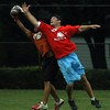 This photo of Cristian making the pick over Alumni and Northwestern star Brian Musso was published in The Doings on August 5th, 2004.