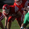 Brian Adams (76) prepares to snap the ball to Mike Newlin during the Homecoming game vs. York.