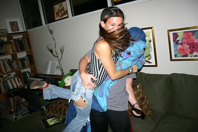Andrés and Michelle rassle