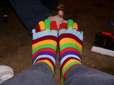 Dan has toe socks