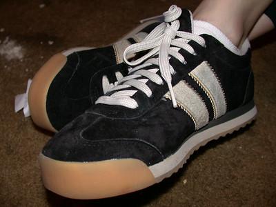 Amy has big shoes