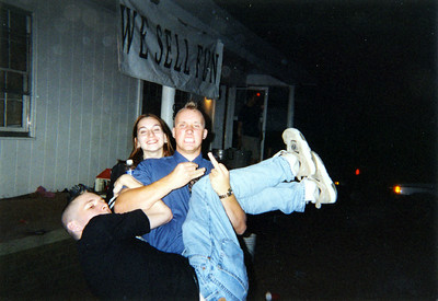Tim carries Adam
