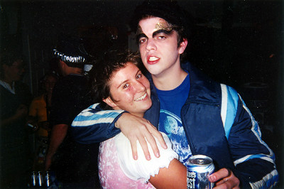 Chelsea and Johnny on Halloween 2002