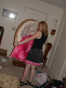 Jenn carries the big bastard chair
