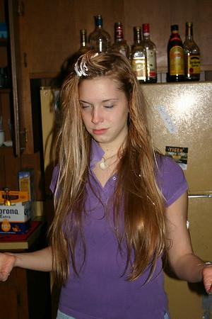 Meg's battered stepchild hair