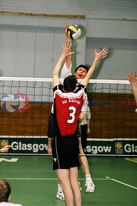 KILMARNOCK v City of Glasgow Ragazzi, Scottish Volleyball Association Men's Cup Final, Kelvin Hall ISA, Glasgow, Sat 20th Mar 2004. © Michael McConville. To buy prints, visit:  https://www.volleyballphotos.co.uk/2004/2004-03-20-cup-and-plate-finals