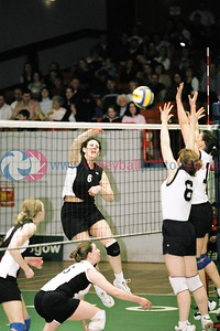 TROON v Falkirk, Scottish Volleyball Association Women's Cup Finals, Kelvin Hall ISA, Glasgow, Sat 20th Mar 2004. © Michael McConville. To buy prints, visit:  https://www.volleyballphotos.co.uk/2004/2004-03-20-cup-and-plate-finals