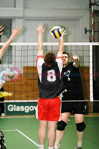 GLASGOW METS II v Paisley, Scottish Volleyball Association Men's Plate Final, Kelvin Hall ISA, Glasgow, Sat 20th Mar 2004. © Michael McConville. To buy prints, visit:  https://www.volleyballphotos.co.uk/2004/2004-03-20-cup-and-plate-finals