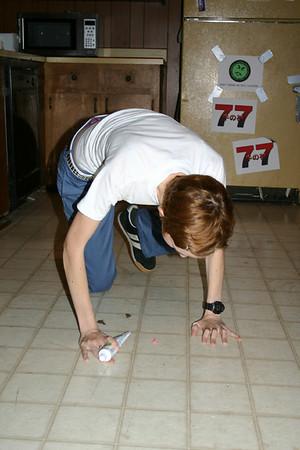 Amy prepares the floor nipples