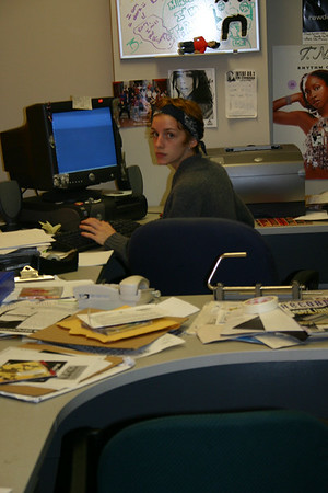 Bruce Springsteen checks his email