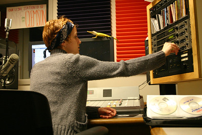 "Such a cool ""person working at radio station"" picture"