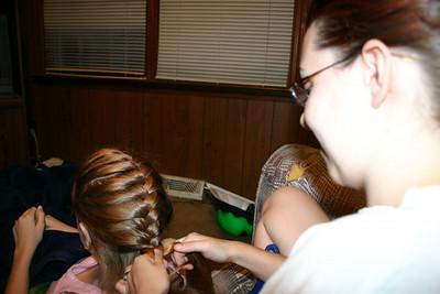 Sarah's pretty french braids