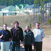 Aberdeen Home Builders Hole in One/Friday Brent Braaten-April 1/2004  DREAM HOUSE SHOOTOUT ? brought to you by Aberdeen glen, The Prince George Homebuilders Association, The Prince George Citizen and 94X. On April 30, from 4 to 9 p.m. May 1, from 10 a.m. - 8 p.m. and May 2, from 10 a.m. - 5 p.m. you can sink a putt (Putts are two for $5) and win a free round of golf at Aberdeen Glen on May 25, during the Dream house Shootout. If you are the first to get a hole-in-one on hole No. 8 you will win a custom built home at Aberdeen Glen Estates. Seen here are, Ian Wrynn, assistant pro at Aberdeen Glen, Ian Leighton, co-ordinator of the Hole in One contest, Gordon Johnson with the Home Builders Association and Shaun Lees director of golf at Aberdeen Glen.