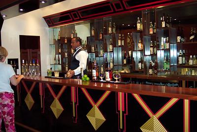 A better shot of the bartender