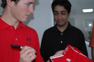 NASCAR Driver Kasey Kahne with Vik