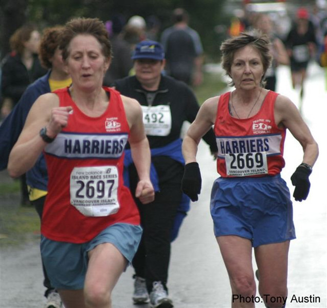 2004 Bazan Bay 5K - Adena Cronk and Marcia Stromsmoe both got into the medals