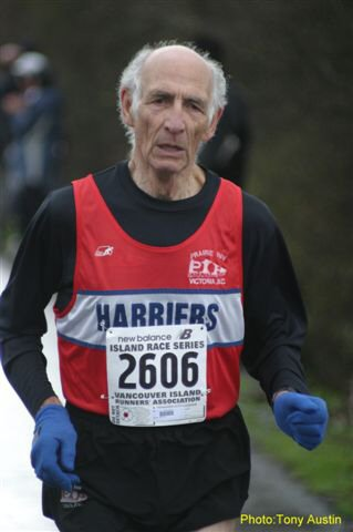2004 Bazan Bay 5K - The great Maurice Tarrant won his age group for at least the 70th time in a row
