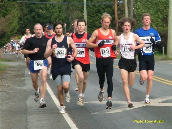 2004 Cedar 12K - Ian Hallam and Steven Murenbeeld in the red PIH singlets