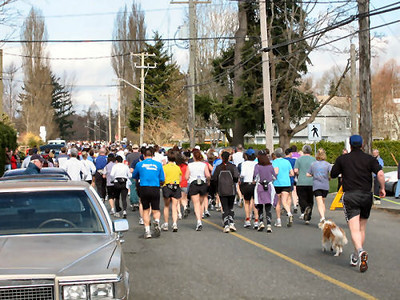 2004 Comox Valley Half Marathon - Back of the Pack