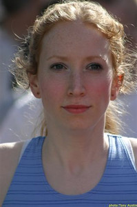 2004 Sooke River 10K - New Harrier Caroline McGaw finished 3rd in the F20 age group