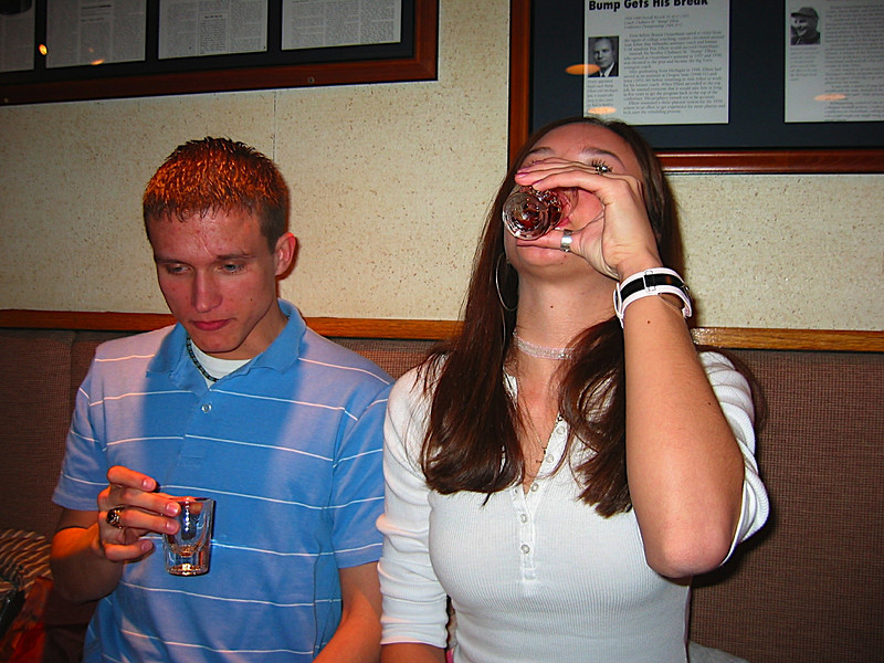 23 - Apparently Alexey drinks her shots really slowly.JPG