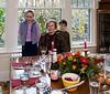 Isabel, Grandma José, and Benjamin at the Thanksgiving table