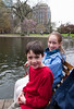 Benjamin and Isabel on the swan boat