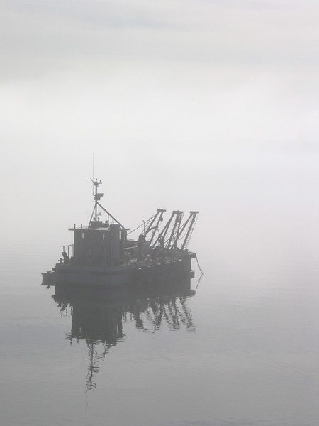 Trawler in the fog