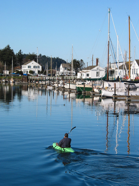 Kayaker, near Port Townsend