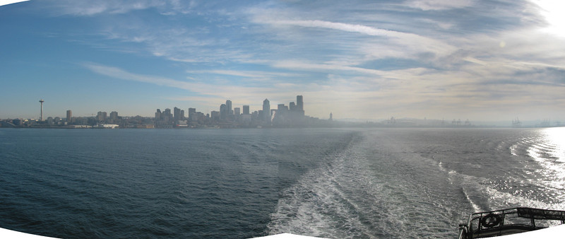 Seattle from the ferry, panorama