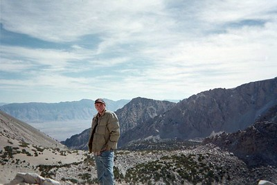Owens Valley from Kearsarge Pass.